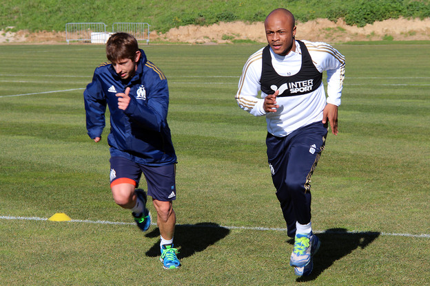 Andre Ayew with Marseille team doctor