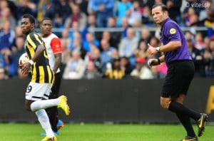 Ghana winger Christian Atsu scored to help Dutch side Vitesse claim a last-gasp 2-1 win at PEC Zwolle to move three points clear at the top of the Eredivisie on Saturday.