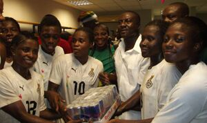 Black Princesses presented with reward after sealing qualification to the World Cup