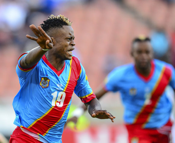 Eddy Ngoyi Emomo of DR Congo reacts after scoring a penalty