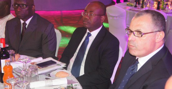 Kwesi Nyantakyi takes his seat at the Eko Hotel auditorium for the CAF awards gala