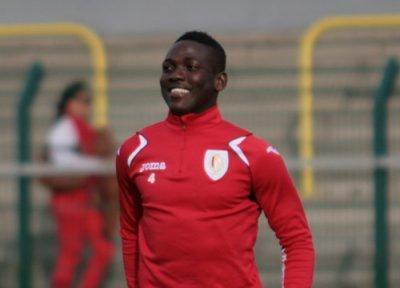 Daniel Opare in training with Belgian side Standard Liege.