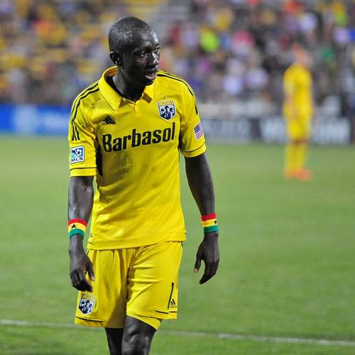 Dominic Oduro in action in Major League Soccer