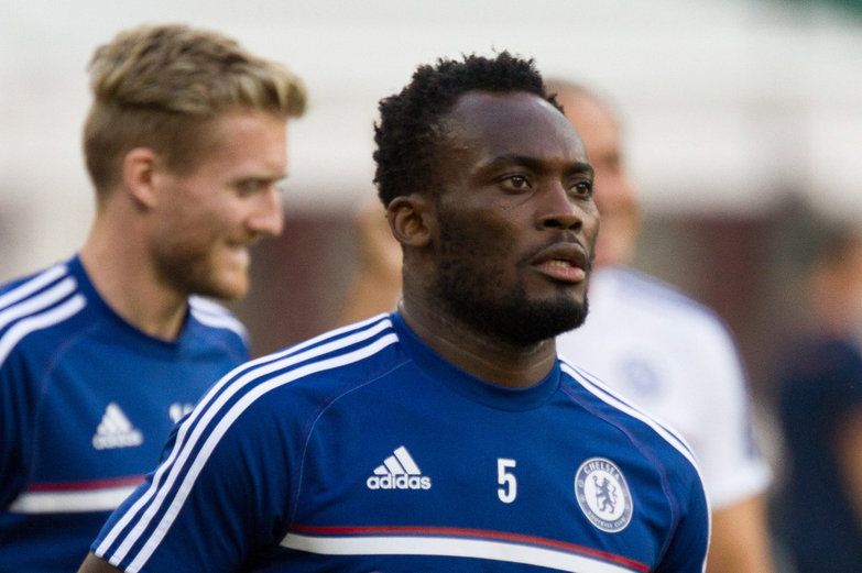 Aug 10, 2013; Washington, DC, USA; Chelsea midfielder Michael Essien (5) before the game at RFK Stadium. Mandatory Credit: Paul Frederiksen-USA TODAY Sports