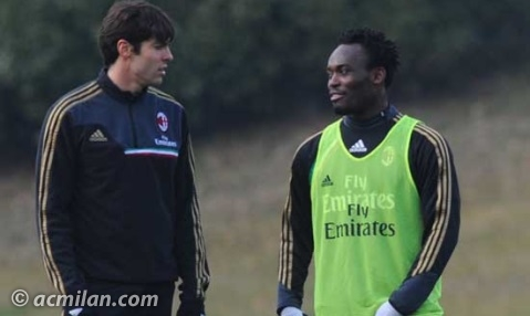 Michael Essien and Ricardo Kaka