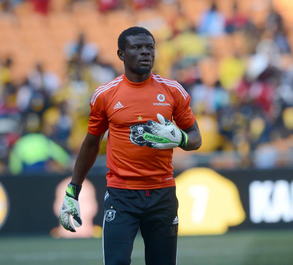 Fatau Dauda plays for Orlando Pirates in a friendly.
