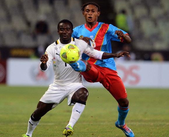 Theophilus Anobaah in action against DR Congo