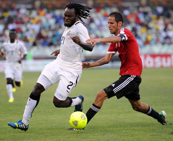 Yahaya Mohammed in action for Ghana against Libya.