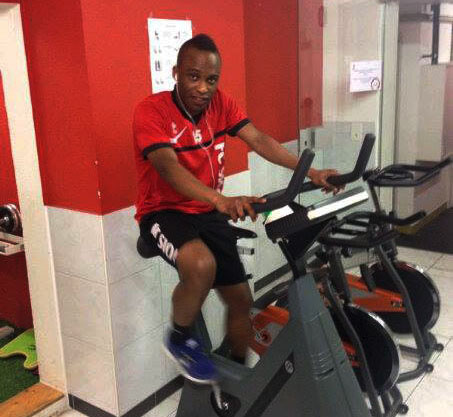 Ghana's Ishmael Yartey training at FC Sion after returning from the break