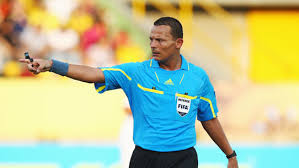 Ivorian match official Doue Noumandiez Desire, who refereed Ghana's second-leg World Cup clash against Egypt in Cairo in November, is among three African referees to officiate at the tournament in Brazil in June but no Ghanaian official was named.