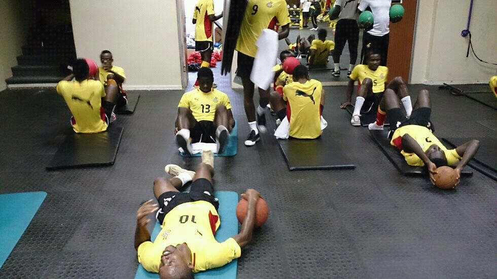 Local Black Stars training in the Gym at Chloorkop.