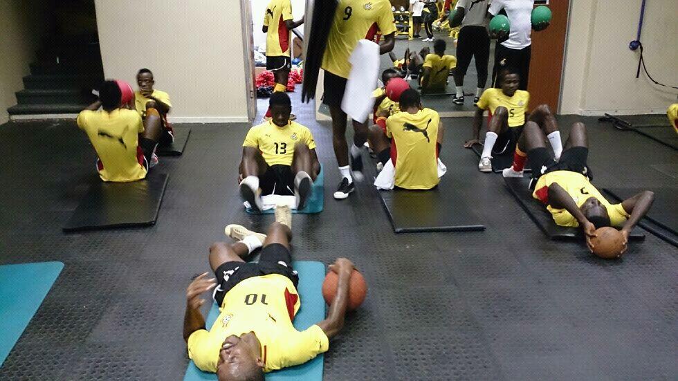 Local Black Stars training at Sundowns for 2014 CHAN