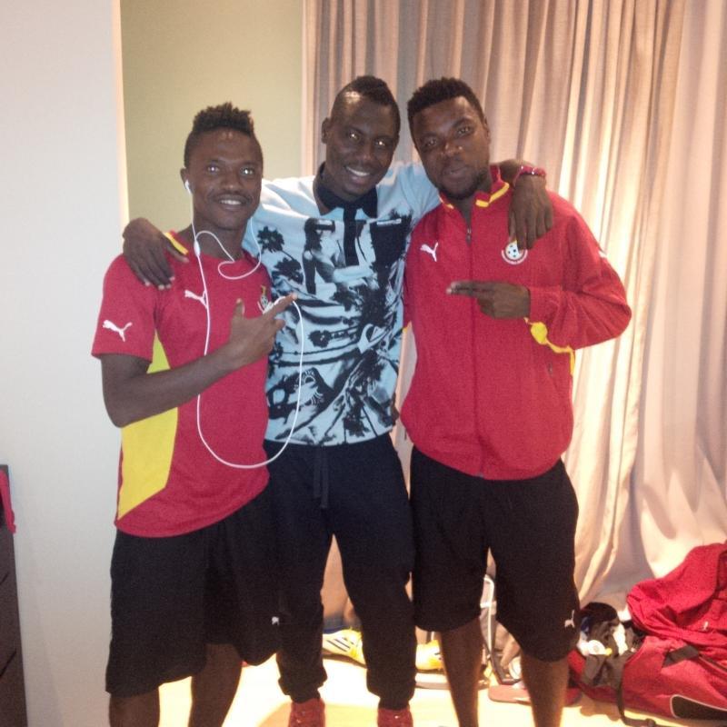 Abdul Basit Adam (middle) and Asiedu Attobrah and Abeiku Ainooson.