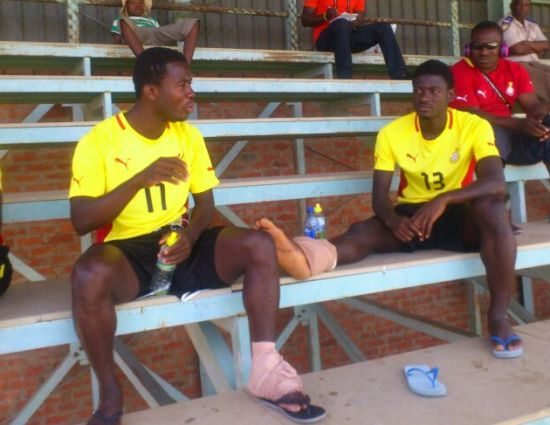 Theophilus Anobaah and Sulley Mohammed picked up injuries in the draw with Libya