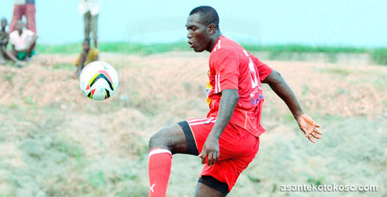 Isaac Boakye training with Asante Kotoko