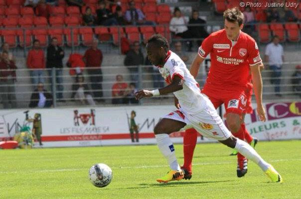 Ishmael Yartey in action for FC Sion against Arsenal Tula FC on Friday