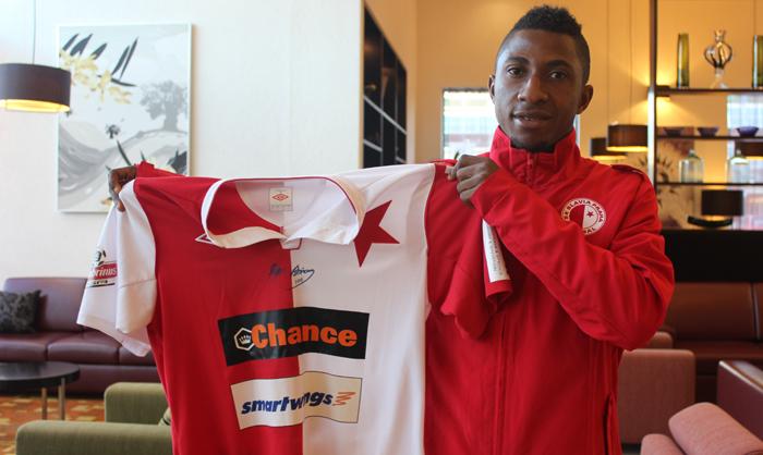 Joseph Mensah has signed a six month loan deal with Slavia Prague