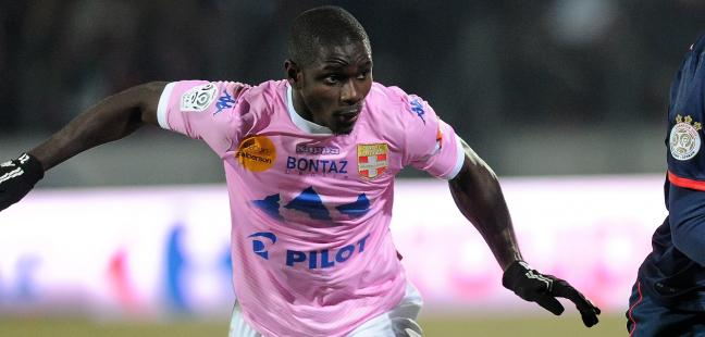 Jonathan Mensah was sent in Evian TG defeat.