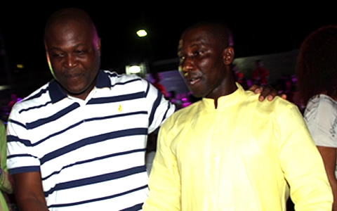 Kennedy Agyepong and businessman Ibrahim Mahama