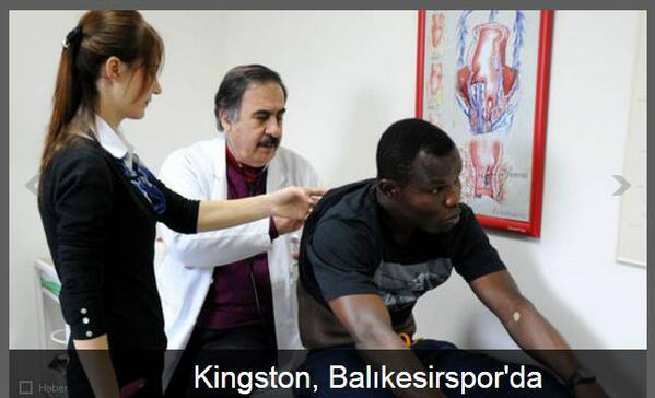 Richard Kingson undergoing a medical