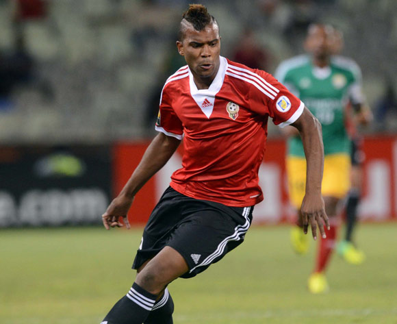 Elmutasem Abushnaf of Libya during the 2014 CAF African Nations Championships match between Libya and Ethiopia on the 13 January 2014 at Free State Stadium