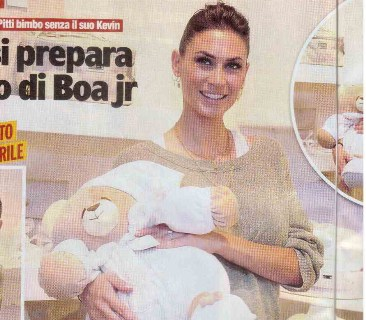 Melissa Satta, Kevin-Prince Boateng's girlfriend is expecting a baby in April