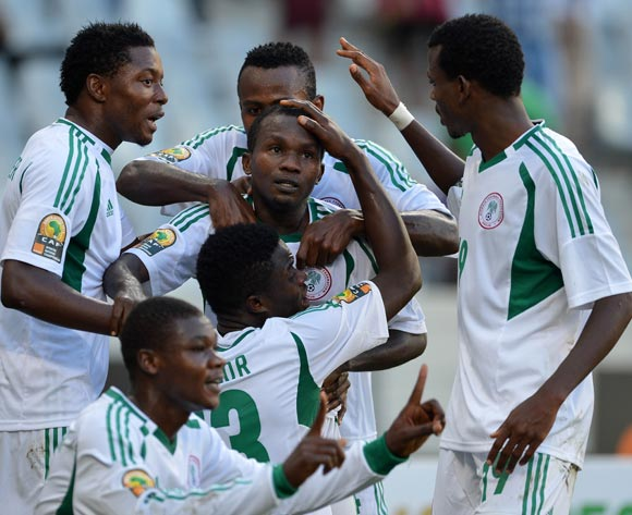 Nigeria's Super Eagles celebrating against Morocco.