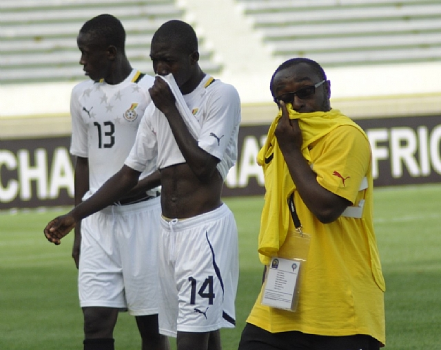 Isaac Opeele Boateng after Ghana's eliminated at the 2013 Africa Junior Championship in Morocco.