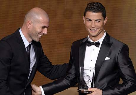 Ronaldo is up against Frank Ribery and Lionel Messi for this year's award