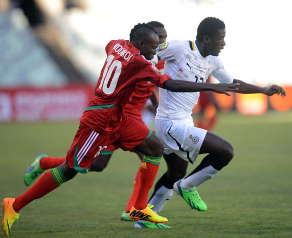 Sulley Mohammed in action against Congo.