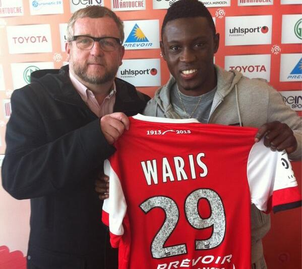 Ghana striker Abdul Majeed Waris handed No.29 jersey at Valenciennces