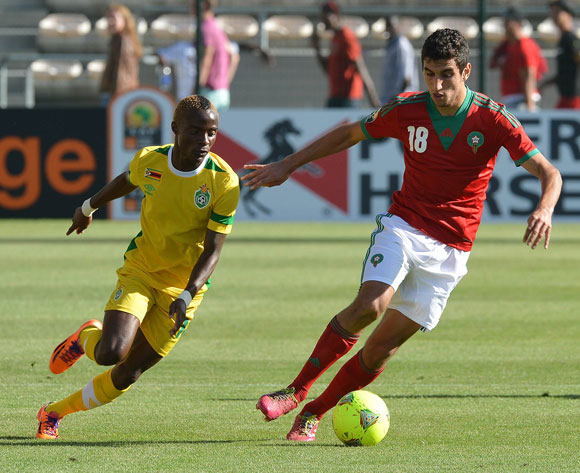 Zimbabwe and Morocco in action