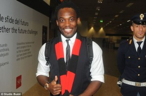 Ghana midfielder Michael Essien says he is delighted to have reached an agreement to join giants AC Milan from Chelsea after arriving in the Italian city on Friday night to complete the bumper deal.