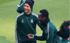 Essien and Ronaldo at Madrid last year