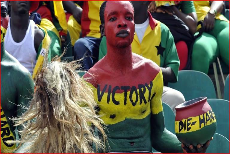 fans ghana victory