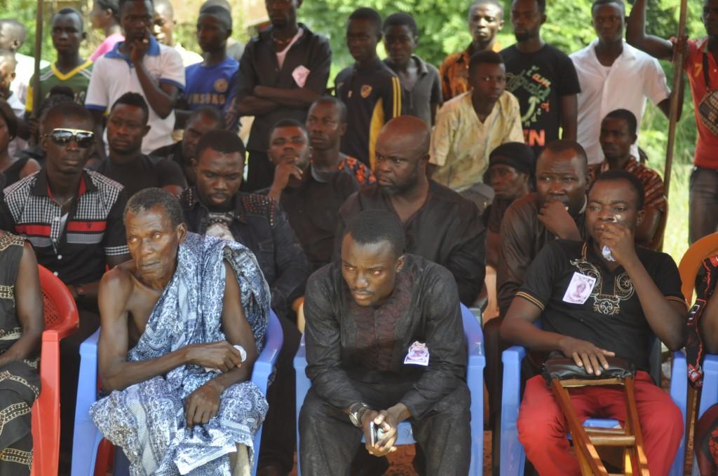 Father Christian Asante, Solomon Asante, brother Cifford Asante, Oduro Sarfo, Joe Debrah, Richard Kissi Boateng were there to console him.