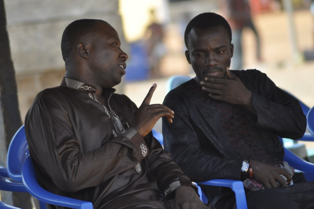 Sports Journalist and personal friend Joe Debrah (left) and Solomon Asante.