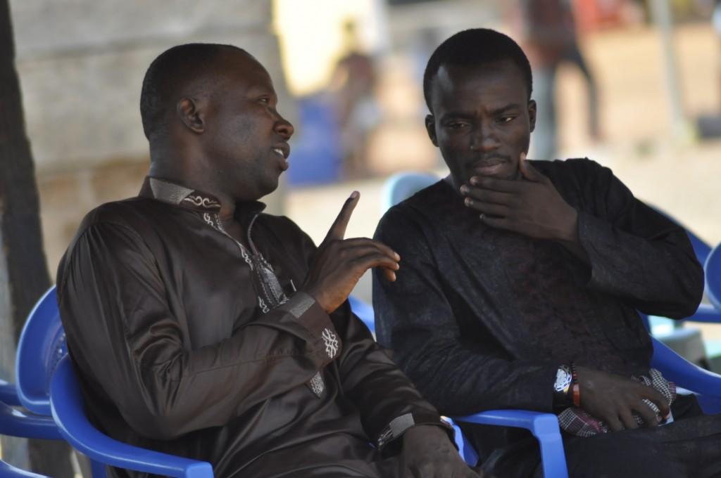Sports Journalist and personal friend Joe Debrah (left) and Solomon Asante.