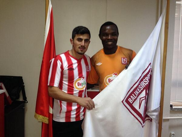 Richard Kingson being unveiled Balikesirspor.