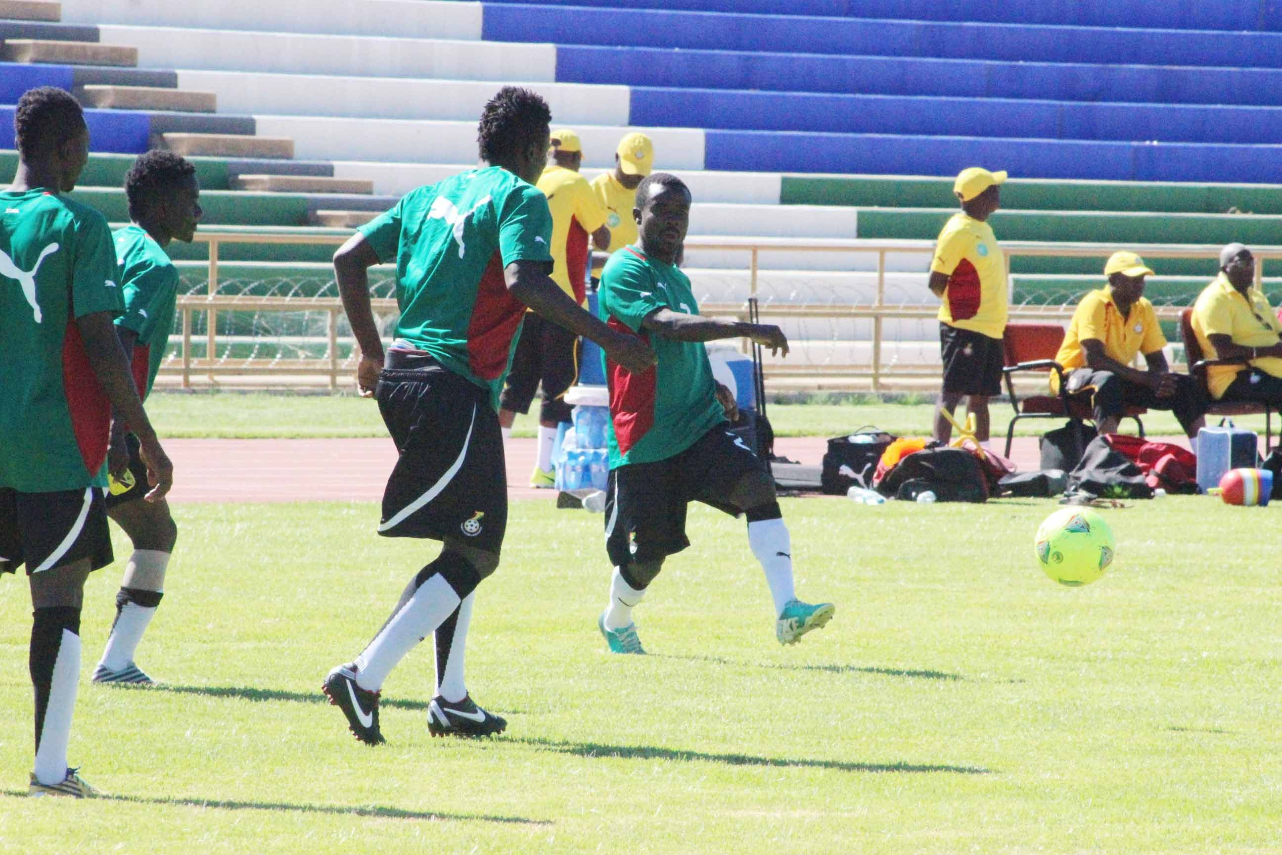 Local Black Stars training in Windhoek.