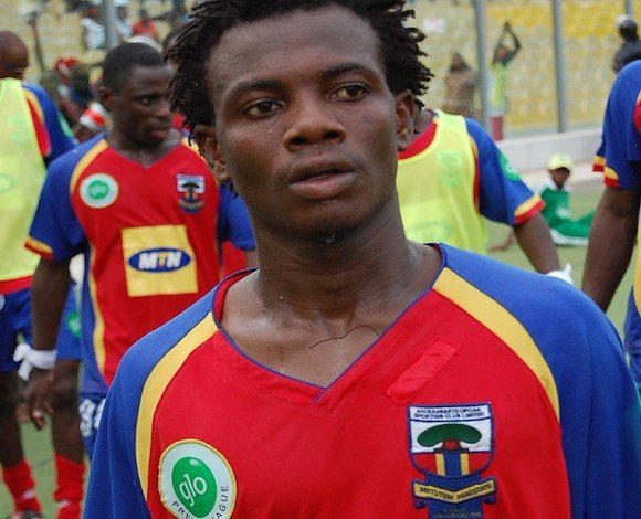 Obed Ansah has begun full-scale training with Hearts of Oak.