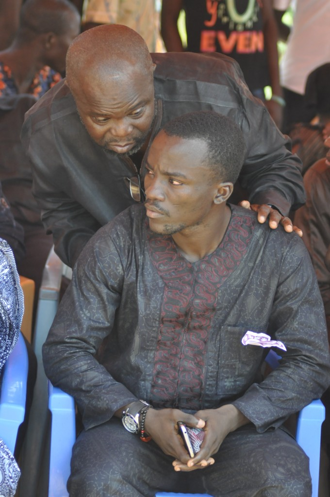 Oduro Sarfo trying to have a word with Solomon Asante.