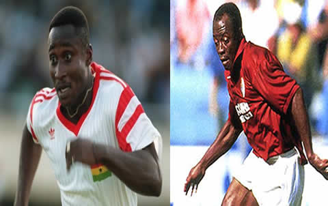 There was friction between Abedi Pele and Tony Yeboah during their Black Stars days