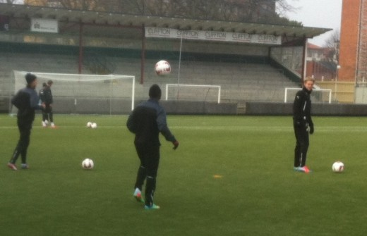 Dominic Adiyiah training with Malmo