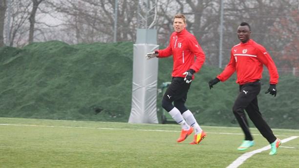 Dominic Adiyiah training with Swedish side Kalmar
