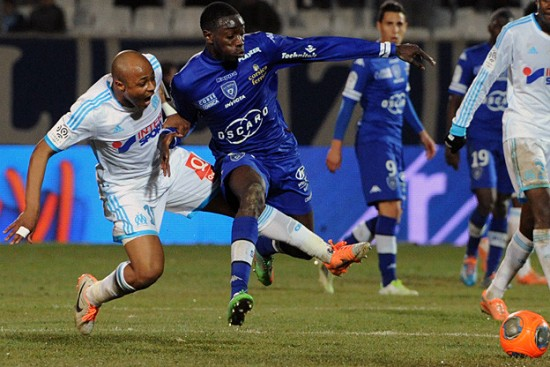 Andre Ayew was in action against Bastia on Saturday