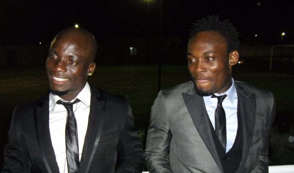Stephen Appiah (left) and Michael Essien
