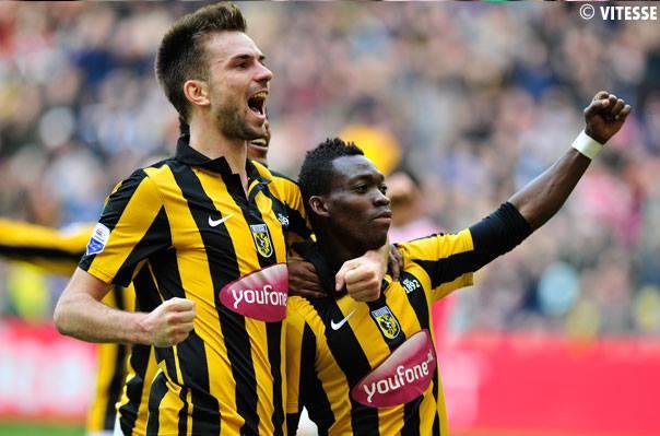 Christian Atsu celebrating his goal for Vitesse