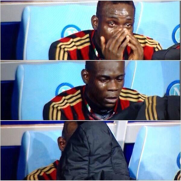 Balotelli in tears