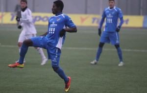 Derrick Mensah in action for Banik Ostrava